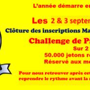Challenge de Provence 2018, les 1er et 2 Septembre